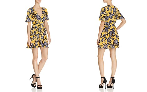 Olivaceous Floral Print Deep V-Neck Dress - Bloomingdale's_2