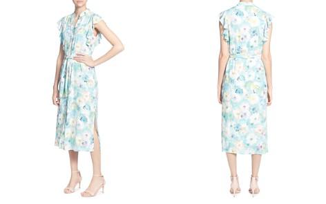 CATHERINE Catherine Malandrino Fredda Watercolor Floral Midi Dress - Bloomingdale's_2