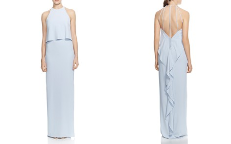 HALSTON HERITAGE Draped-Back Column Gown - Bloomingdale's_2