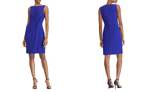 Lauren Ralph Lauren Petites Twist-Front Sheath Dress - Bloomingdale's_2