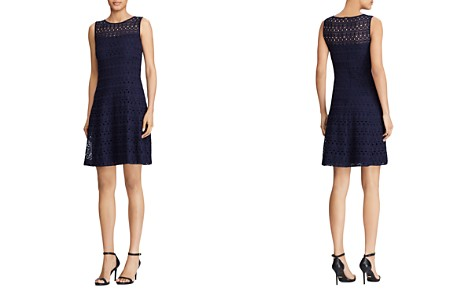 Lauren Ralph Lauren Petites Eyelet Fit-and-Flare Dress - Bloomingdale's_2
