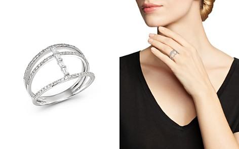 KC Designs 14K White Gold Mosaic Three-Row Diamond Ring - Bloomingdale's_2