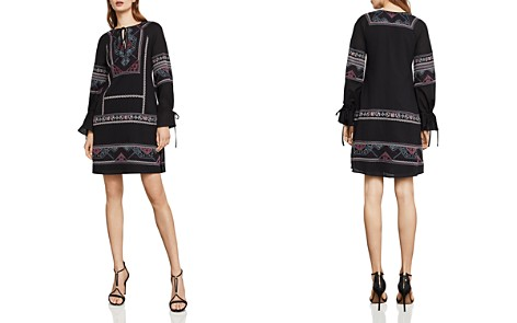 BCBGMAXAZRIA Aicha Embroidered Shift Dress - Bloomingdale's_2