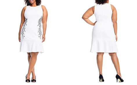 Adrianna Papell Plus Embroidered Trumpet Dress - Bloomingdale's_2