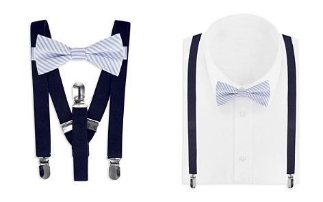 Bloomingdale's Boys Boys' Striped Bow Tie & Solid Suspenders Set - 100% Exclusive_2