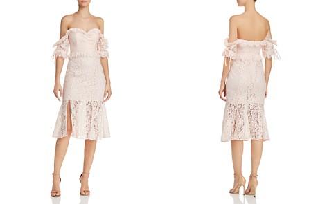 La Maison Talulah Off-the-Shoulder Ruffled Lace Midi Dress - Bloomingdale's_2