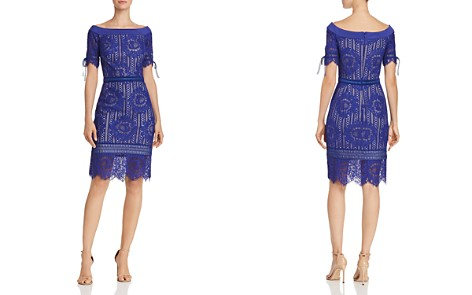 Tadashi Shoji Petites Off-the-Shoulder Lace Dress - Bloomingdale's_2