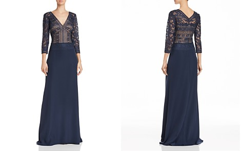 Tadashi Shoji Embroidered Illusion Lace Gown - Bloomingdale's_2
