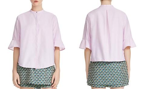 Maje Charly Flared-Cuff Poplin Shirt - Bloomingdale's_2