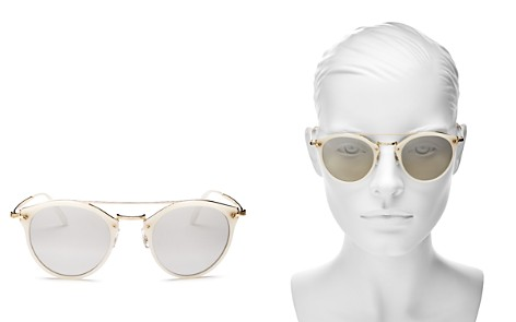 Oliver Peoples Women's Remick Brow Bar Round Sunglasses, 50mm - Bloomingdale's_2