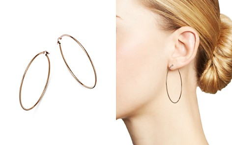 Bloomingdale's Large Hoop Earrings in 14K Rose Gold - 100% Exclusive_2