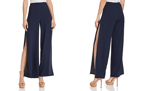 AQUA Side Slit Wide-Leg Pants - 100% Exclusive - Bloomingdale's_2