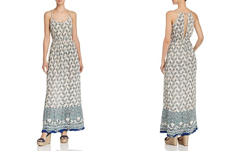 AQUA Keyhole Floral Print Maxi Dress - 100% Exclusive - Bloomingdale's_2