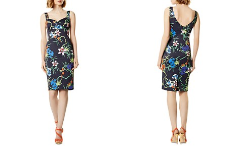KAREN MILLEN Botanical Print Sheath Dress - Bloomingdale's_2