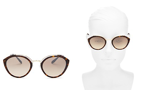 Prada Women's Round Temple Evolution Mirror Sunglasses - Bloomingdale's_2