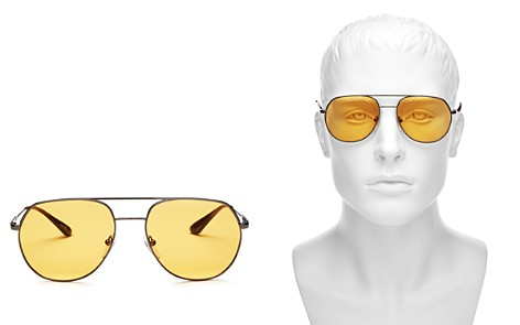 Prada Brow Bar Aviator Sunglasses, 57mm - Bloomingdale's_2
