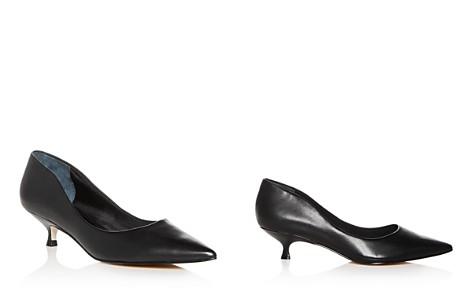 Marc Fisher LTD. Women's Xanthe Leather Kitten Heel Pumps - Bloomingdale's_2