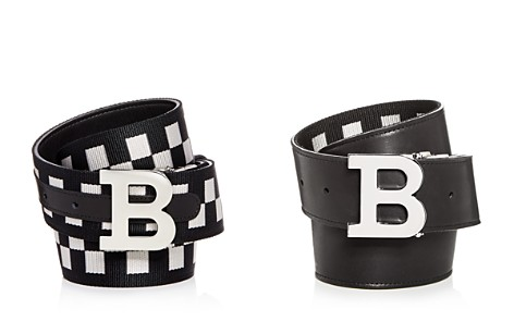 Bally Check & Leather Reversible Belt - Bloomingdale's_2