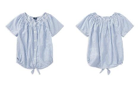 Polo Ralph Lauren Girls' Cotton Striped Tie-Front Top - Big Kid - Bloomingdale's_2
