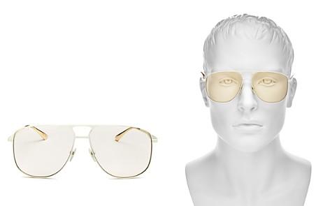Gucci Brow Bar Aviator Sunglasses, 60mm - Bloomingdale's_2