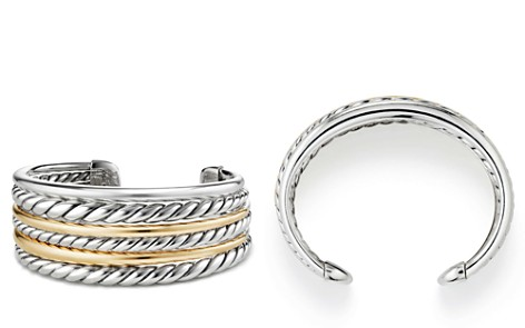 David Yurman Pure Form Cuff Bracelet with 18K Gold - Bloomingdale's_2