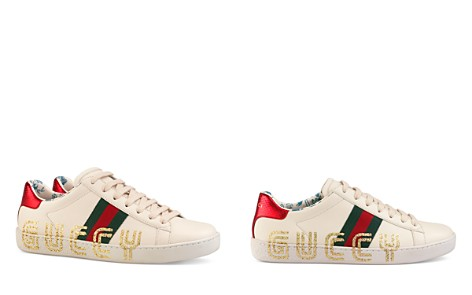 Gucci Women's Ace Leather Guccy Print Sneakers - Bloomingdale's_2