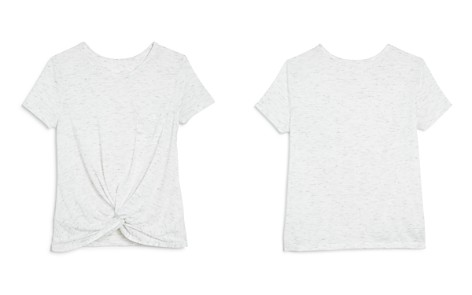 AQUA Girls' Twist-Front Heathered Tee, Big Kid - 100% Exclusive - Bloomingdale's_2