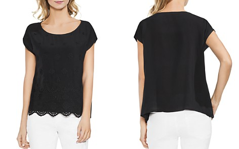 VINCE CAMUTO Scalloped Eyelet Top - Bloomingdale's_2