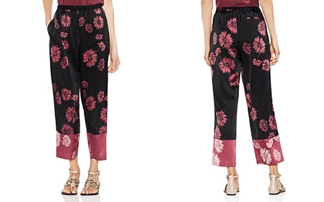 VINCE CAMUTO Chateau Sketch Floral Wide-Leg Pants - Bloomingdale's_2
