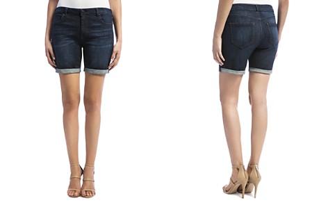 Liverpool Corine Cuffed Denim Shorts in Vintage Super Dark - Bloomingdale's_2
