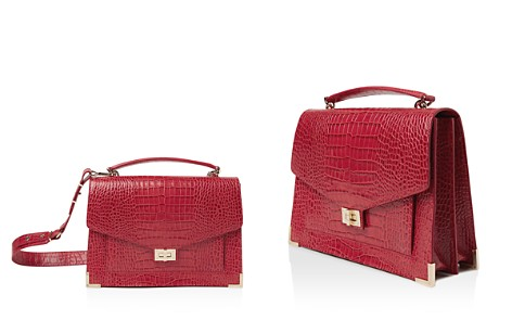 The Kooples Emily Croc-Embossed Leather Maxi Crossbody - Bloomingdale's_2