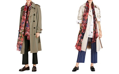 Burberry Scribble Vintage Check Gauze Oblong Scarf - Bloomingdale's_2