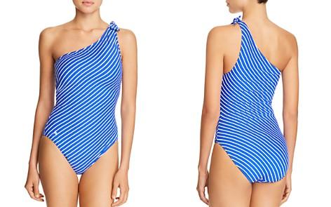 Lauren Ralph Lauren Striped One-Shoulder One Piece Swimsuit - Bloomingdale's_2