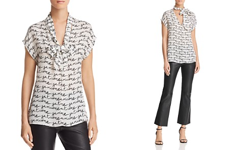 MILLY Sia Printed-Silk Top - Bloomingdale's_2