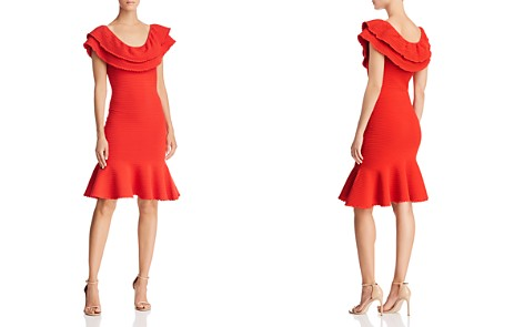 MILLY Ruffled Rib-Knit Dress - Bloomingdale's_2