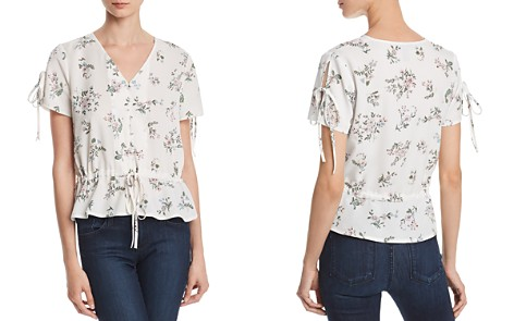 AQUA Floral Print Peplum Top - 100% Exclusive - Bloomingdale's_2