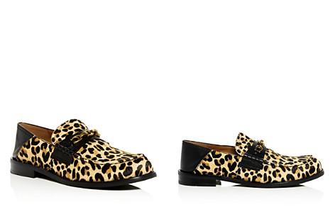 COACH Women's Putnam Leopard Print Calf Hair Loafers - Bloomingdale's_2