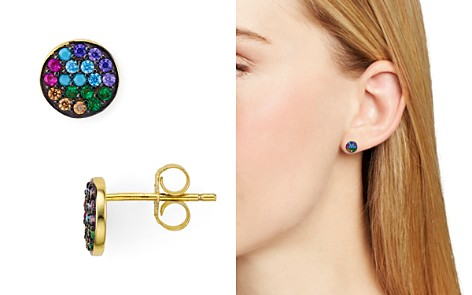 AQUA Multi Color Circle Stud Earrings - 100% Exclusive - Bloomingdale's_2