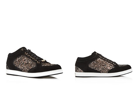 Jimmy Choo Women's Miami Glitter & Suede Low Top Sneakers - Bloomingdale's_2