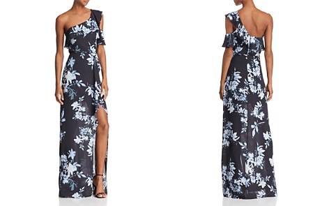 BCBGMAXAZRIA One-Shoulder Floral Gown - 100% Exclusive - Bloomingdale's_2