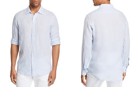 Michael Kors Cross Dye Linen Long Sleeve Button-Down Shirt - 100% Exclusive - Bloomingdale's_2
