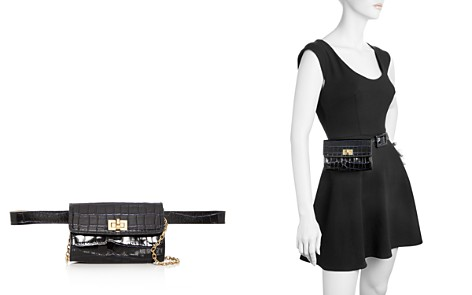Max Mara Micron Croc Embossed Leather Convertible Belt Bag - Bloomingdale's_2