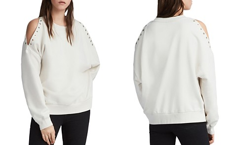 ALLSAINTS Cruz Unai Grommet Cold-Shoulder Sweatshirt - Bloomingdale's_2