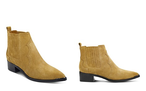 Marc Fisher LTD. Yohani Suede Western Booties - Bloomingdale's_2