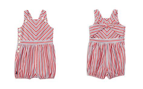 Ralph Lauren Girls' Striped Cotton Romper - Baby - Bloomingdale's_2