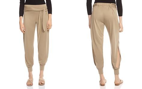HALSTON HERITAGE Belted Side-Slit Jogger-Style Pants - Bloomingdale's_2