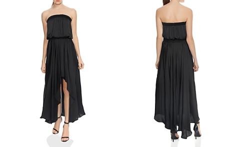 HALSTON HERITAGE Strapless Ruched Handkerchief Hem Maxi Dress - Bloomingdale's_2