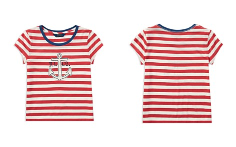 Polo Ralph Lauren Girls' Striped Anchor Tee - Big Kid - Bloomingdale's_2