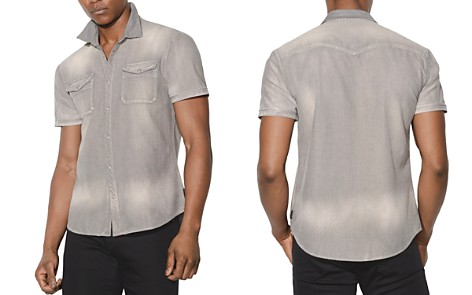 John Varvatos Star USA Faded Short-Sleeve Button-Down Shirt - Bloomingdale's_2