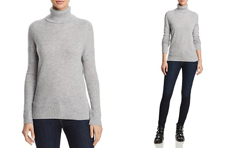 AQUA Cashmere Cashmere Turtleneck Sweater - 100% Exclusive - Bloomingdale's_2